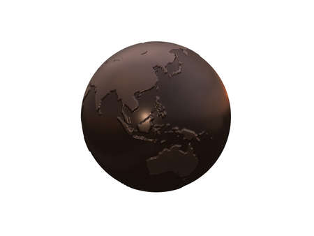 metallic: metallic world globe 3d