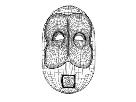 computer simulation: 3d mask wireframe Available in high-resolution and several sizes to fit the needs of your project.