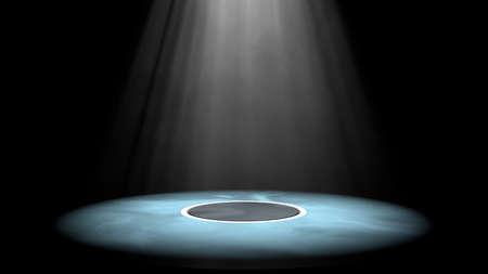 3d illustratie van een podium en licht