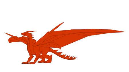 輪郭を描かれた dragonl 白 3 d レンダリングで隔離