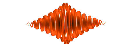 3d rendering of an orange abstract on white background