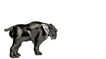 rendered: 3d rendering of a reflective tiger animal on a background Stock Photo