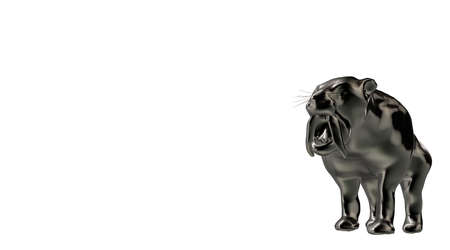 reflect: 3d rendering of a reflective tiger animal on a background Stock Photo