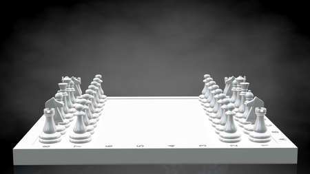 3d rendering of a reflective chess on a dark black background