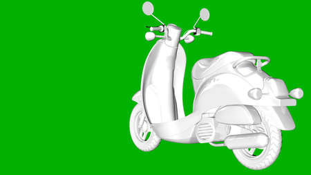 steel: isolated white 3d rendering of a motor on a green background