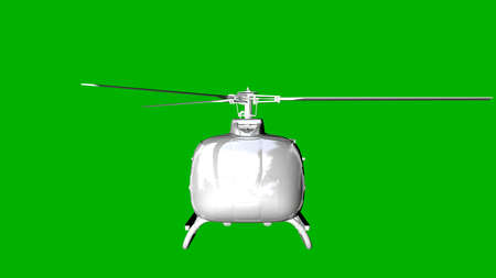 steel: isolated white 3d rendering of a helicopter on a green background