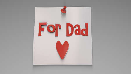 3d rendering of a concept father's day design inside a studio