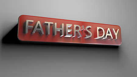 3d rendering of a concept fathers day design inside a studio