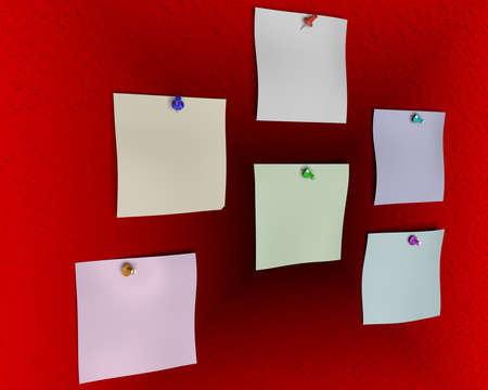 3d rendering of empty paper and a pin inside a studio