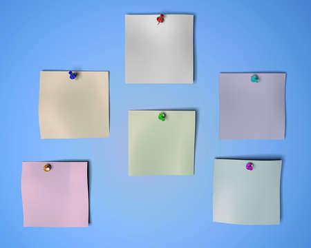3d rendering of empty paper and a pin inside a studio Reklamní fotografie