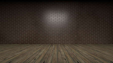 3d rendering of a brick wall frontal view studio Stok Fotoğraf