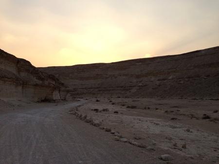 protectorate: Sunset in wadi degla protectorate  Stock Photo