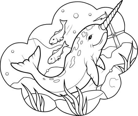 Unicorn fish: narwhal