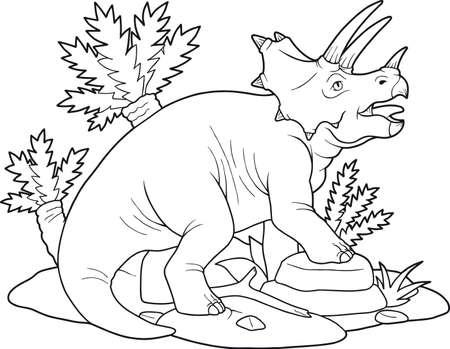 triceratops Vettoriali