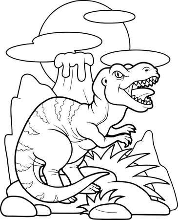carnivore: tyrannosaurus Illustration