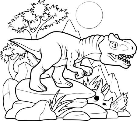 allosaurus Ilustração