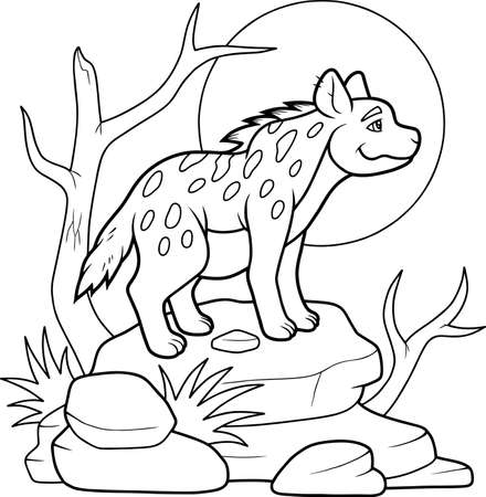 hyena: hyena Illustration