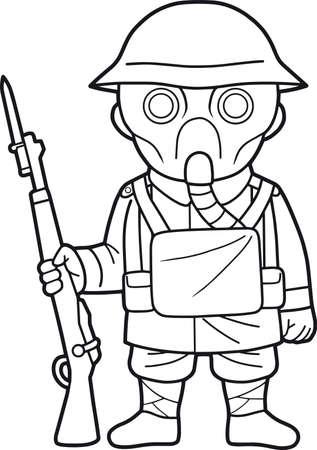 Buena Imagen De La Máscara De Gas Clásico Británico Del Ejército ...