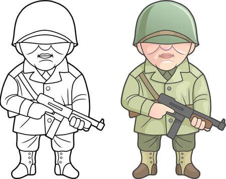Tweede Wereldoorlog de soldaat van de Verenigde Staten van Amerika