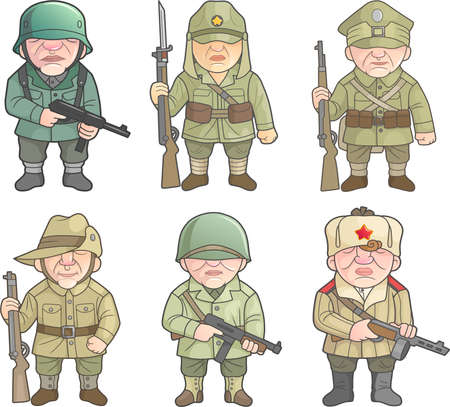 Soldiers of the Second World War Vectores