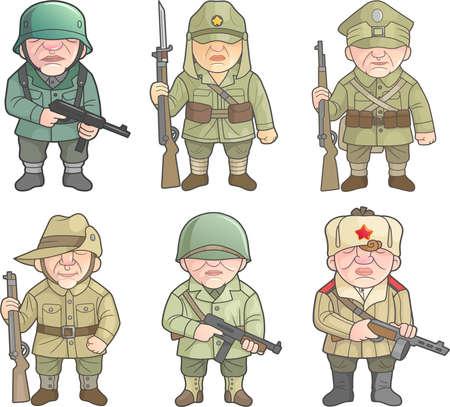 Soldaten van de Tweede Wereldoorlog