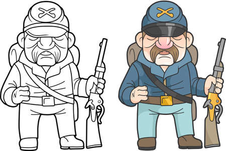 Cartoon soldaat van het noorden leger