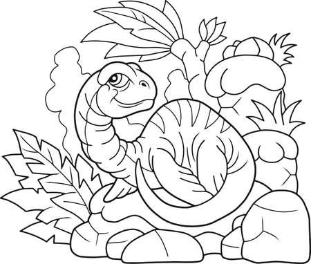 cartoon little plesiosaur illustration.
