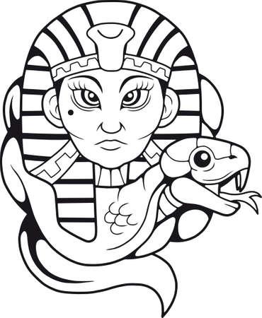 Gyptische Königin mit Kobrakone. Standard-Bild - 91616833