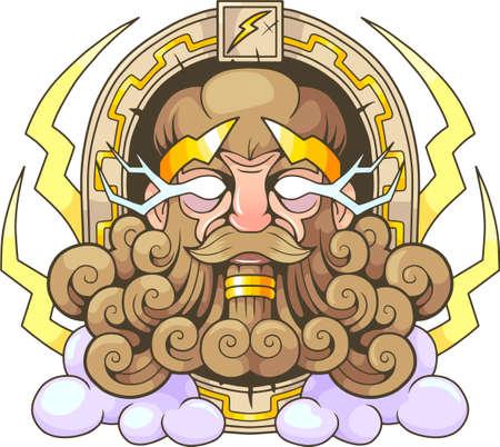 Ancient Greek god Thunderer Zeus