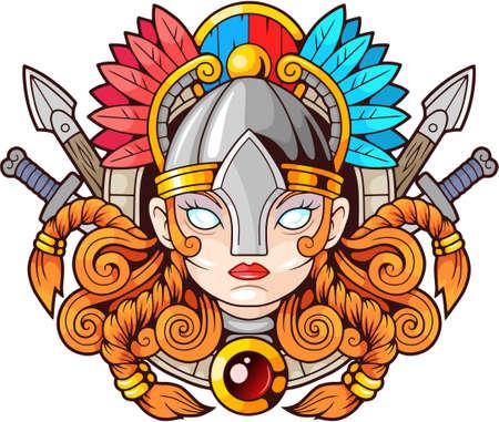 legendary female warrior Valkyrie, Scandinavian mythology