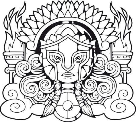 Legendary Ancient Greek goddess Athena Pallas
