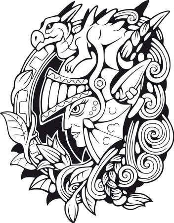 elf warrior dragon