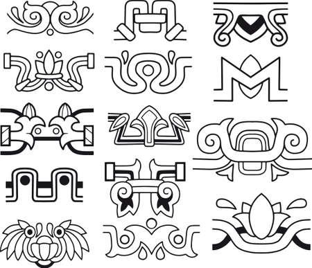 Vintage border set for design vector Иллюстрация