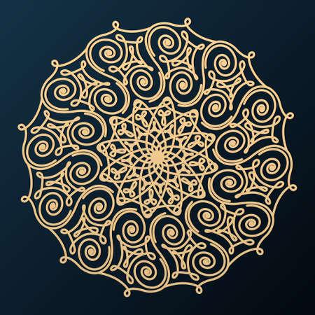 Ornamental Decorative Rosette. Design element. Vector illustration.