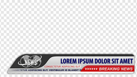 Tv news bars for Video headline title or lower third template. Vector illustration. Illusztráció