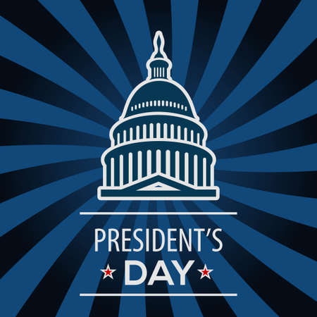 Presidents Day USA greeting card, United States of America celebration