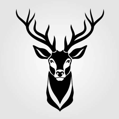 Deer icon isolated on white background. Vector illustration