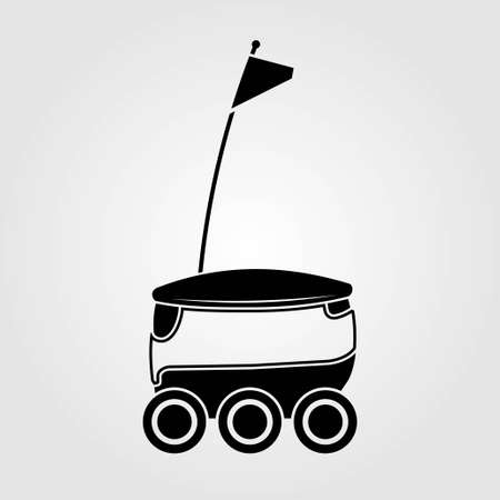Delivery Robot icon isolated on white background. Vector illustration.