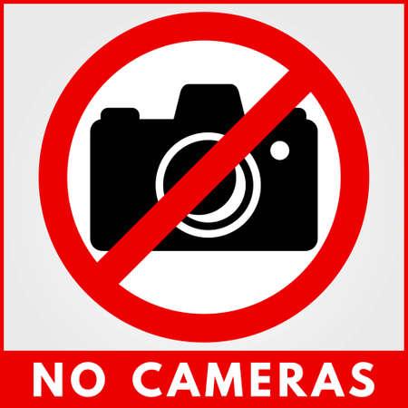 No Photo camera sign. Vector illustration.