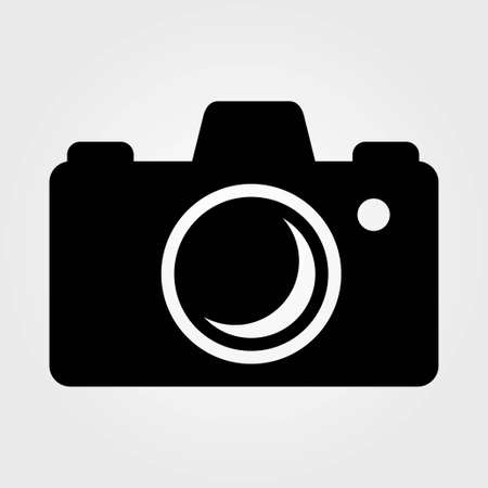 Photo camera isolated on white background. Vector illustration.