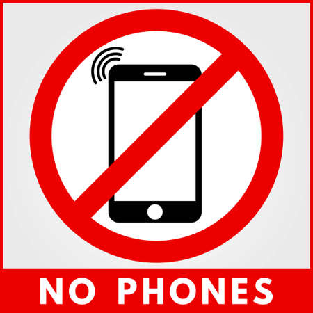 No phone sign. Vector illustration. 向量圖像