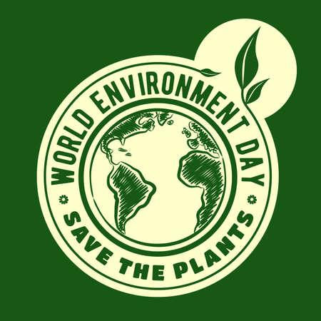 World environment day concept. Vector illustration.  イラスト・ベクター素材