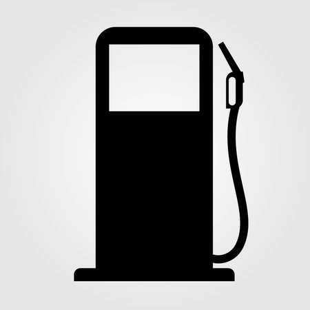 Gas station icon isolated on white background. Vector illustration.
