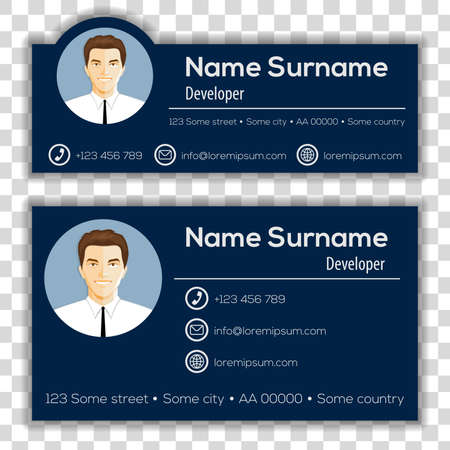 Corporate Email Signature Modern Design. Vector illustration. 矢量图像