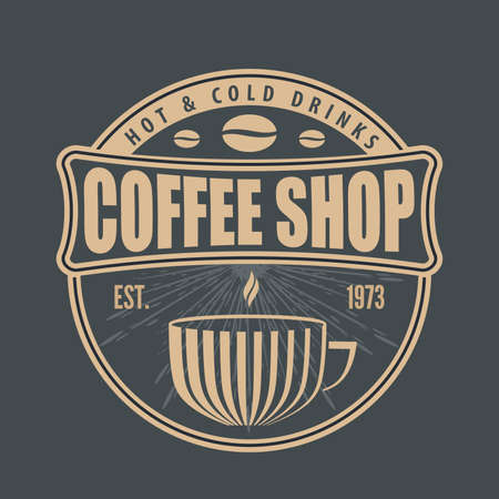 Coffee shop design template. Vector illustration
