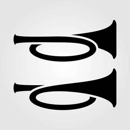 Klaxon icon isolated on white background. Vector illustration.