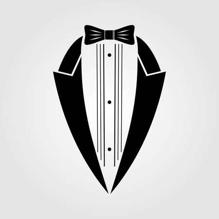 Tuxedo icon isolated on white background. Vector illustration