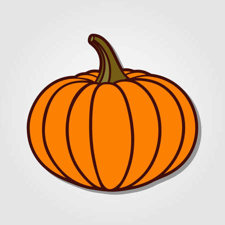 Pumpkin icon isolated on white background. Vector illustration Çizim