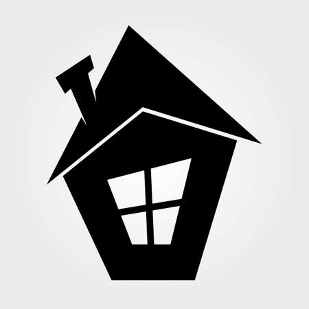 Home icon isolated on white Ilustrace