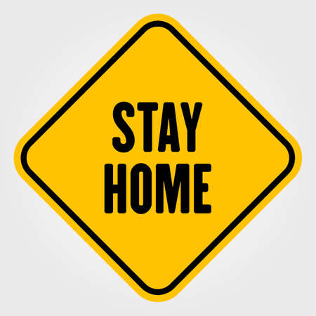 Stay home sign isolated on white Ilustrace